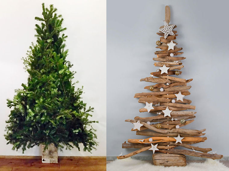Sapin de noel en bois flotte for Achat decoration